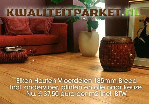 Houten Vloerdelen Aanbieding : Eiken houten vloer aanbieding compleet geplaatst kopen