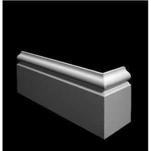 MDF Sierplinten, 190x18mm, 2.44 m1. 2x gegrond, Ral 9010.