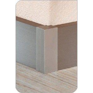 Aluminium plint recht Zilver 60x15mm buitenhoek