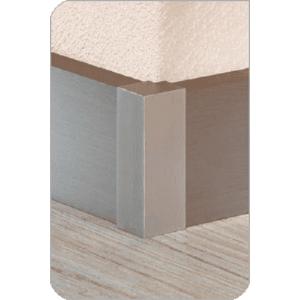 Aluminium plint recht RVS 60x15mm buitenhoek