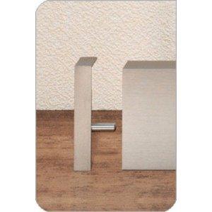 Aluminium plint recht RVS 60x15mm eindstuk links