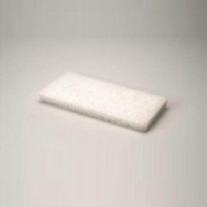 Vloerpads Wit 12x25cm, 10 stuks
