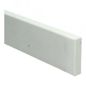 MDF Moderne plintneut 50 cm (75x18mm) wit voorgelakt RAL 9010