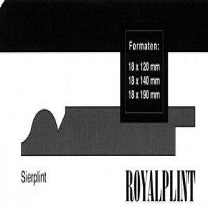 MDF Sierplinten, 120x18mm, 2.44 m1. 2x gegrond, Ral 9010.