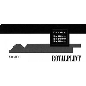 MDF Sierplint, 140x18mm, 2.44 m1. 2x gegrond, Ral 9010.