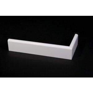 Koloniale MDF plint, 90x12mm, 2.40 m1. Wit voorgelakt.