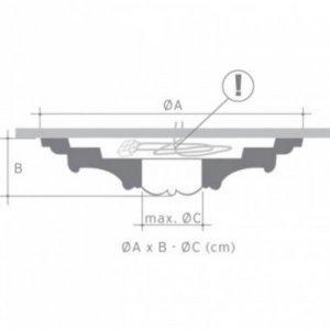Orac Rozet Luxxus R73 diameter 700 mm (H: 59 mm)