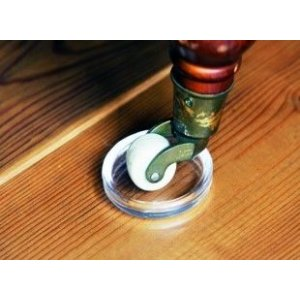 Wielschaaltje 23/33mm, Beschermcup voor wieltjes, transparant