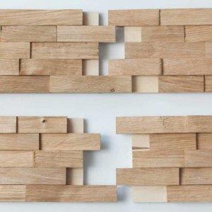 Woodbricks Wandpanelen Onbehandeld, Ruw