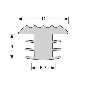 Anti-slip strip voor trappen wit, zwart, bruin, grijs, aluminium kleur