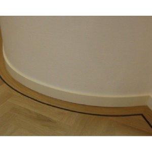Buigbare / Flexibele plint 120/90/70x15mm, 2.00 m1. Onbehandeld