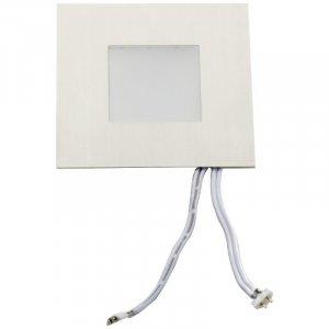 LED-hoekprofiel LED lamp vierkant/edelstaal 0,6W