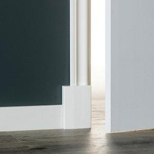 MDF Barok architraaf 70x12x2440mm wit voorgelakt RAL 9010