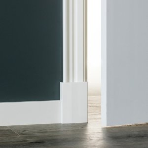 MDF Renaissance architraaf 88x18x2440mm wit voorgelakt RAL 9010