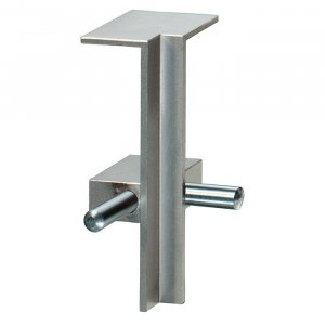 Aluminium plint recht RVS 60x15mm binnenhoek