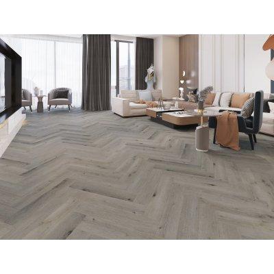 lpha Floors SPC Rigid Click Visgraat PVC vloer Licht Grijs Eiken