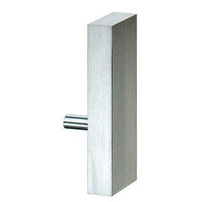 Aluminium plint recht RVS 60x15mm eindstuk rechts