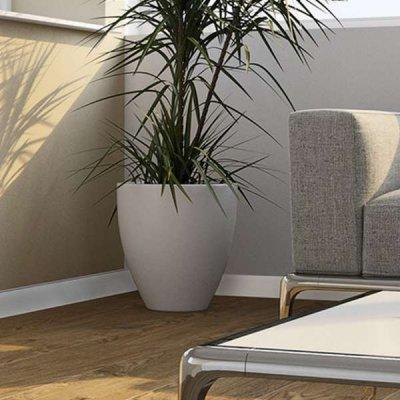 Kunststof Plint (PVC plinten) 80x12mm