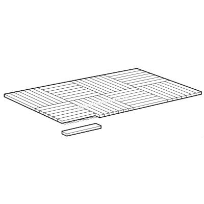 Eiken Mozaïek Parketvloer Natuur 120x120mm (1:5) Speciaal formaat