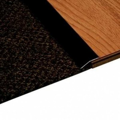 Overgangsprofiel Zwart 22x54mm alu zelfklevend, 2.70m