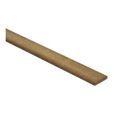 Afrormosia platte plinten 6x35mm