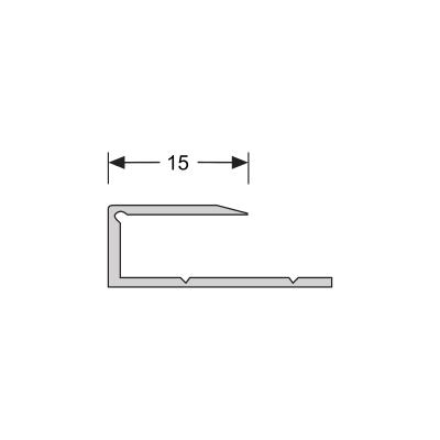 Buigbaar U-profiel Zilver 9 mm alu, 2.70m