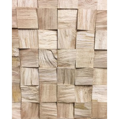 CastleFloors - RefugeCastle - Oak Chopped 3D Wandpanelen 70 x 70 en 100 x 100 mm