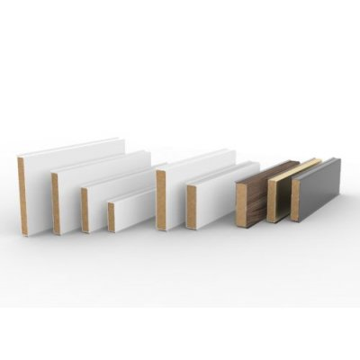 Kunststof Plint 60x12mm (PVC plint)