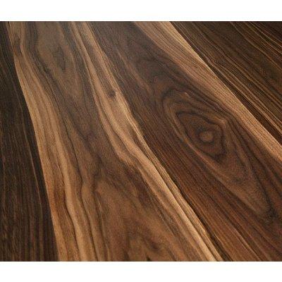 Curved floor Infinity Modular Walnut - Gebogen Oneindige Modulaire Walnoten vloer
