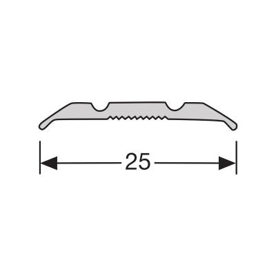 Dilatatieprofiel RVS 25 mm alu schroef, 2.70m