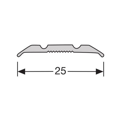 Dilatatieprofiel RVS 25 mm alu zelfklevend, 2.70m