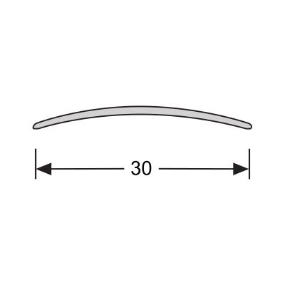 Dilatatieprofiel Zwart 30 mm alu zelfklevend, 2.70m