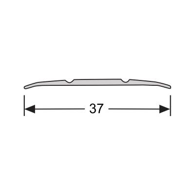 Dilatatieprofiel Zwart 38 mm alu zelfklevend, 3.0 m