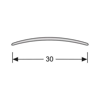 Dilatatieprofiel Brons 30 mm alu zelfklevend, 2.70m