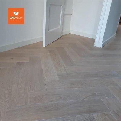 EASYLOX® Visgraat Eiken houten parketvloer