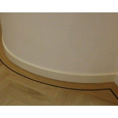 Buigbare / Flexibele plint 120/90/70x15mm