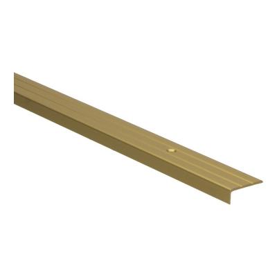 Hoeklijnprofiel Goud 10mm schroef, 2.70m