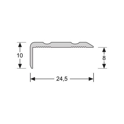 Hoeklijnprofiel Zilver 10 mm zelfklevend, 1 m
