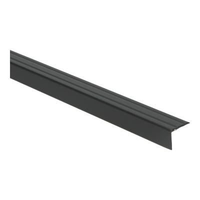 Hoeklijnprofiel Zwart 20mm zelfklevend, 1 m