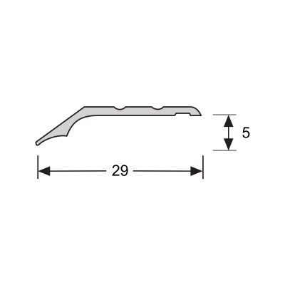 Overgangsprofiel Brons 5x28mm alu zelfklevend, 2.70m