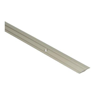 PVC overgangsprofiel schroef 2,5-5 mm alu RVS