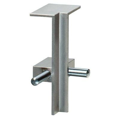 Aluminium plint recht Zilver 60x15mm binnenhoek
