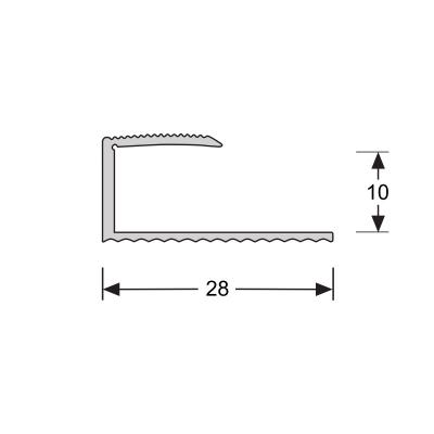 U-profiel Goud 10,1 mm, 2.70m