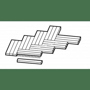 Jatoba mozaiek parket, 8mm, 1, 2, 3-voudige visgraat, minivisgra