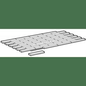 Cumaru mozaiek parket, 8mm, Engels verband