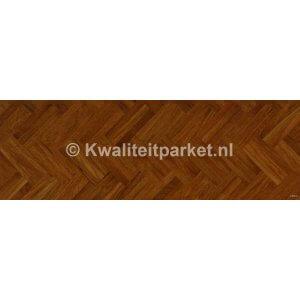 Afzelia Doussie mozaiek, 8mm, 1, 2, 3-voudige minivisgraat