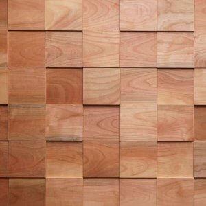 Houten Wandpanelen Kersen Vierkant Groot, 0.8424 m2