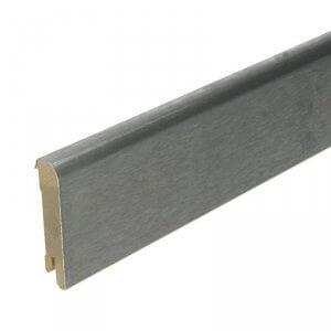 RVS Luxe plint 70x15 geborsteld RVS fineer, 2.5 m1