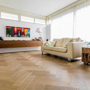 Maple Visgraat Vloer Inclusief Montage