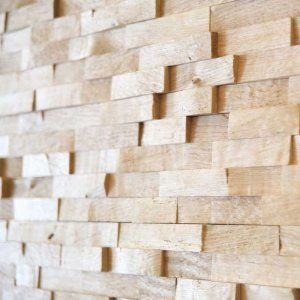 Woodbricks Wandpanelen Onbehandeld, Ruw